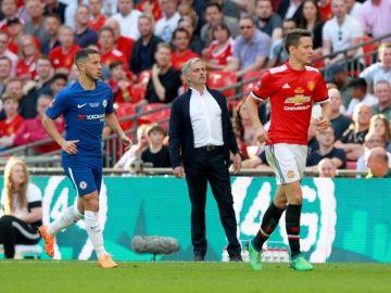 Jose Mourinho, en la final entre Chelsea y Manchester United.