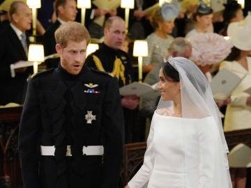 El príncipe Harry Meghan Markle durante la ceremonia