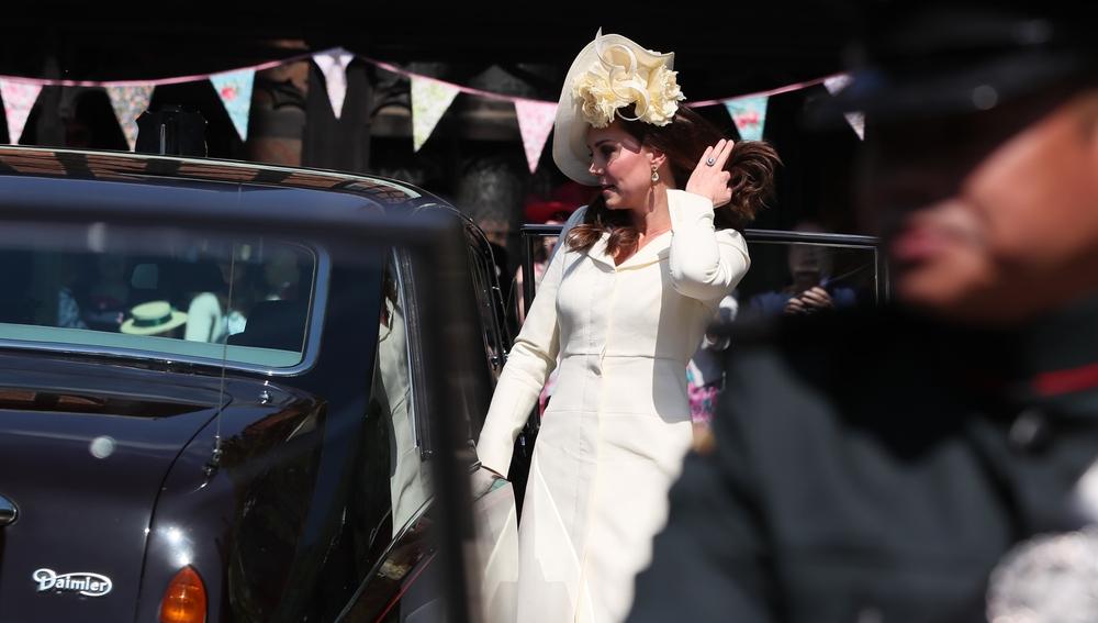 Kate Middleton en la boda de Meghan Markle y el príncipe Guillermo
