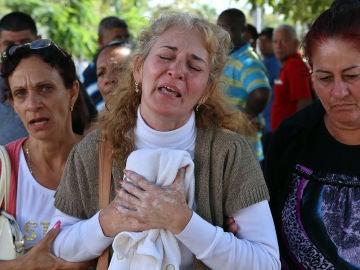 Familiares de los fallecidos en el accidente de avión de La Habana