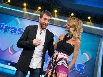 """Amaia Salamanca confiesa entre risas que ve a Pablo Motos con un """"trikini"""""""