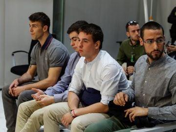 La Audiencia Nacional juzga por terrorismo a cuatro presuntos autores de los incidentes violentos registrados en el casco antiguo de Pamplona el 11 de marzo de 2017