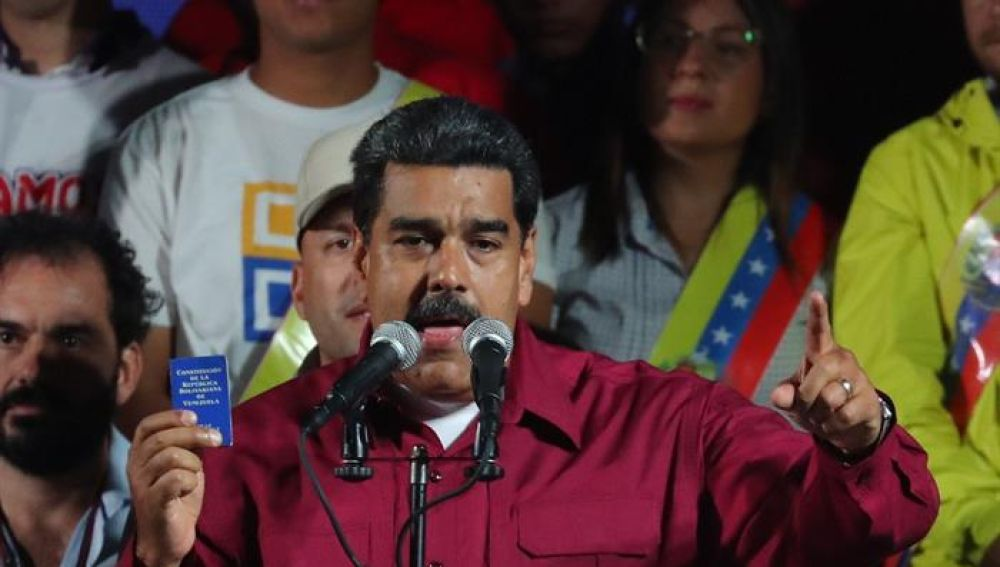Nicolás Maduro, tras conocer los resultados de las elecciones