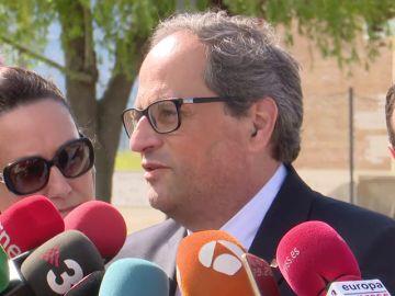 """Torra critica que Jordis estén en la cárcel por ayudar a Cataluña """"a decidir"""""""