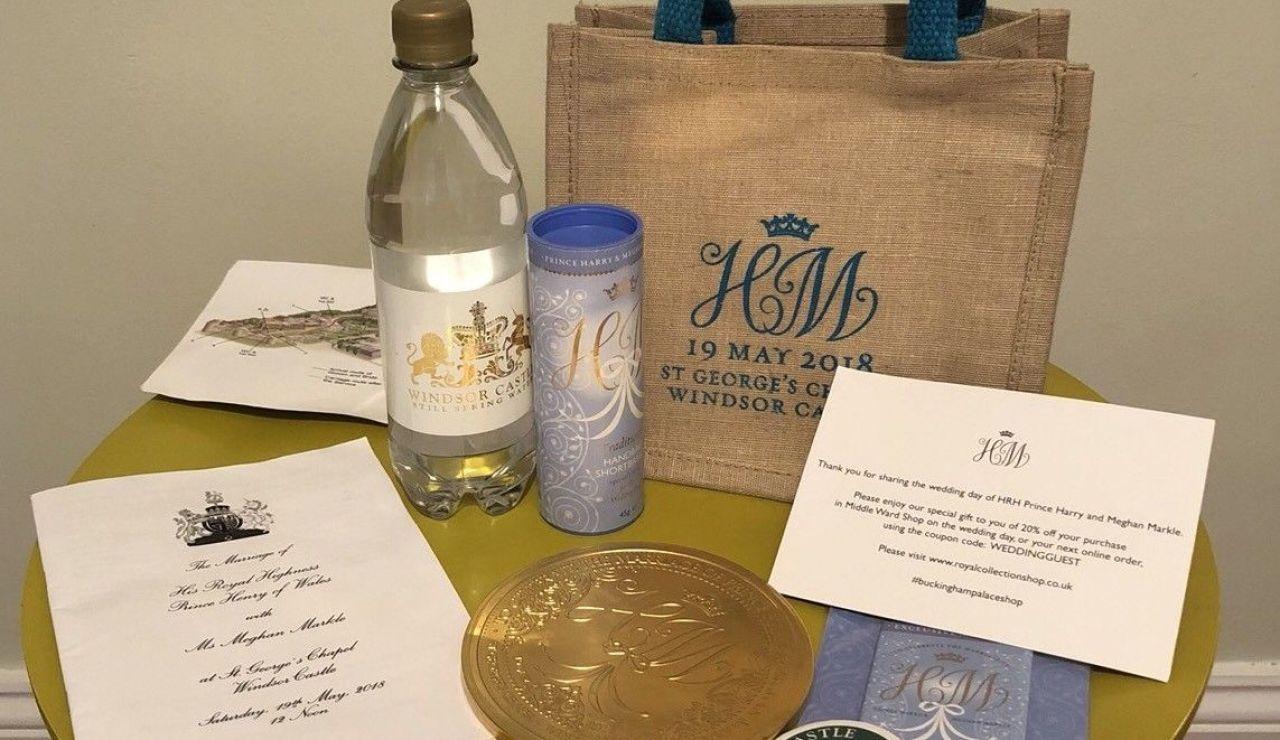 Bolsa de regalos para los invitados a la boda de Harry y Meghan