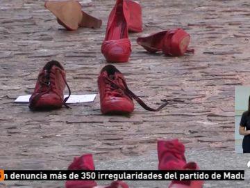 Zapatos rojos contra la violencia de género en Zamora