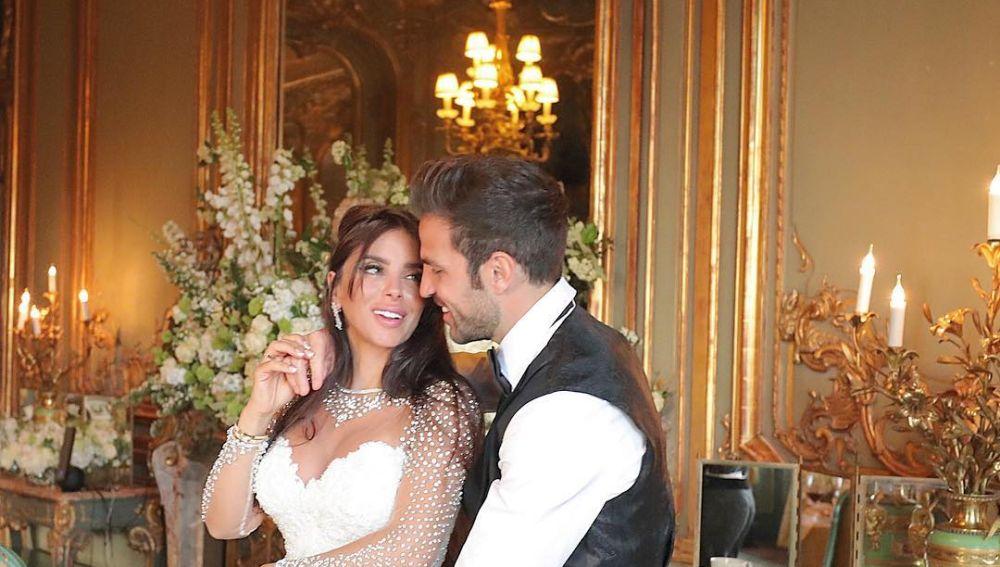 Daniella Semaan y Cesc Fábregas el día de su boda