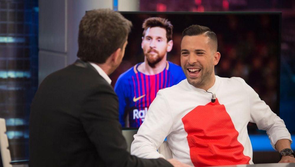 """""""Estoy muy feliz de esta nueva etapa"""", Jordi Alba confiesa sus sentimientos en 'El Hormiguero 3.0'"""