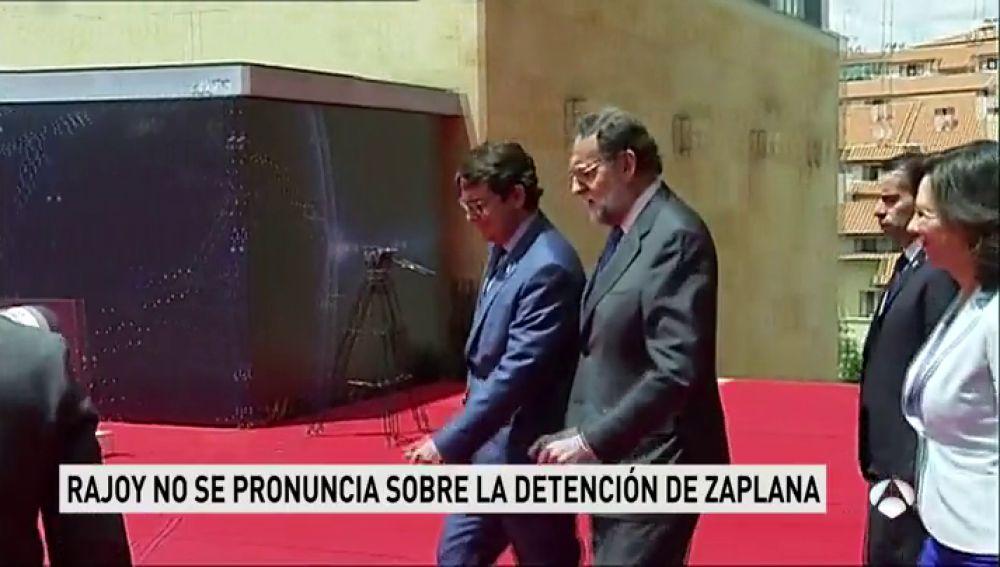 """Rajoy asegura estar """"muy bien"""" de ánimos y evita hacer declaraciones sobre Eduardo Zaplana"""