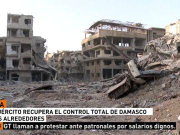 El Ejército sirio declara el control total de Damasco tras derrotar a Daesh en toda la capital