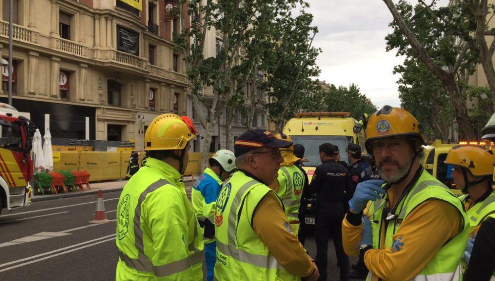 Derrumbe de un edificio en Madrid
