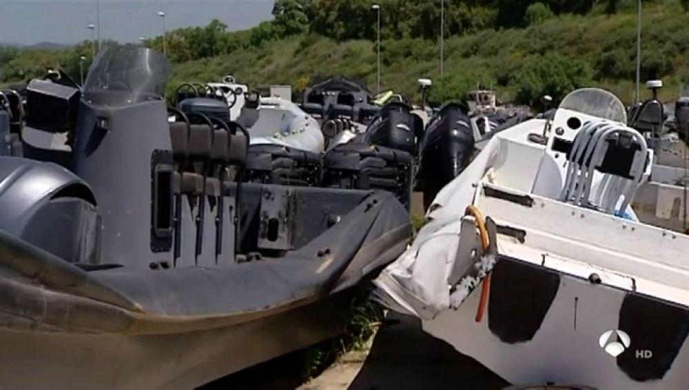 Espectacular persecución a una narcolancha que transportaba 4.000 kilos de hachís en Ceuta