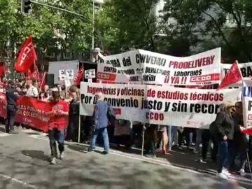 Protestas frente a las sedes patronales por salarios dignos