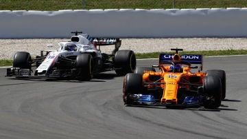 Fernando Alonso, en acción durante el GP de España