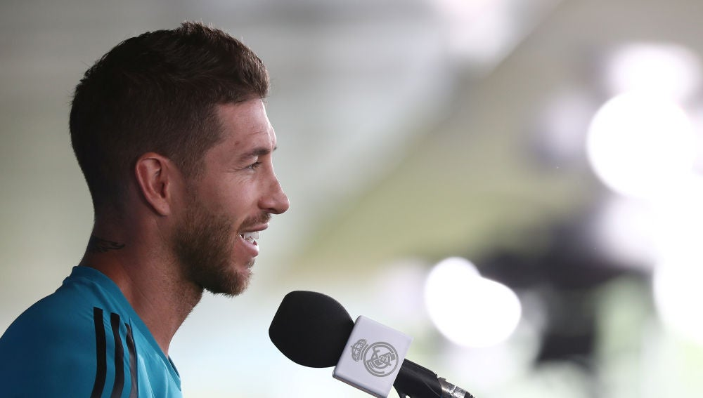 Sergio Ramos, ante los medios de comunicación