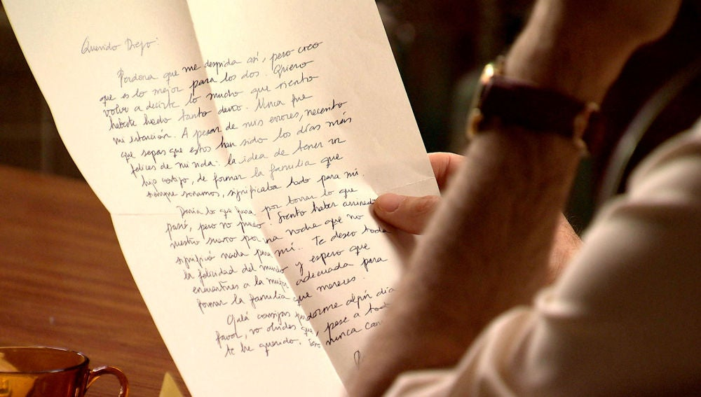 La sincera carta de despedida de Raquel a Durán