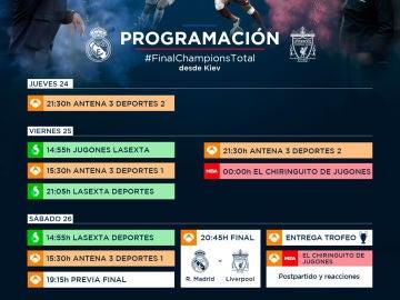 La programación de la final de la Champions