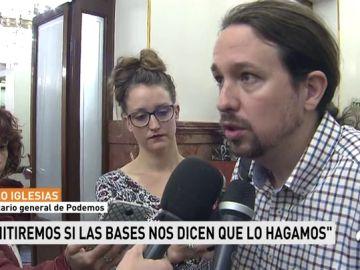 """Iglesias reprocha a otros dirigentes que no """"den la cara"""" ante sus militantes como ha hecho él por la polémica de su chalet"""