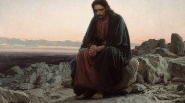 """""""Cristo en el desierto"""" de Ivan Kramskoi"""
