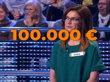 A un oponente de los 100.000 € en ¡Ahora Caigo!