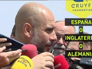 """Guardiola: """"¿Si me gustaría que España ganara el Mundial? Sí, y también Inglaterra, y Alemania..."""""""