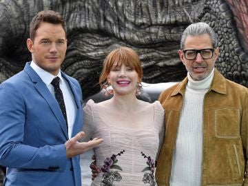 Chris Pratt, Bryce Dallas Howard y Jeff Goldblum presentan 'Jurassic World 2'