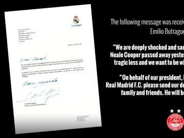 La carta del Real Madrid al Aberdeen