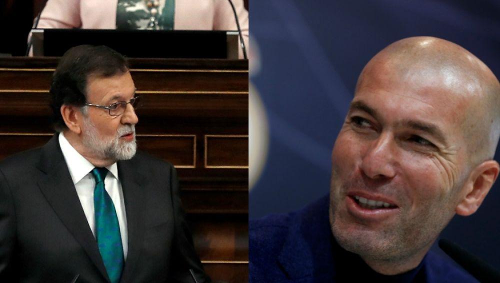 Mariano Rajoy y Zinedine Zidane