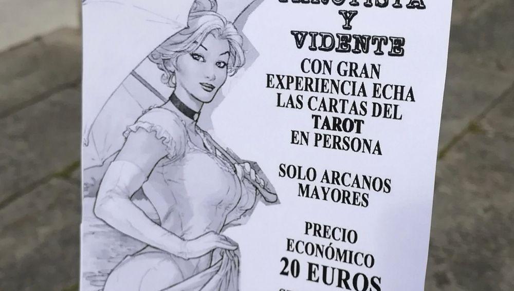 Imagen de un folleto publicitario que supuestamente repartía la jueza de Lugo