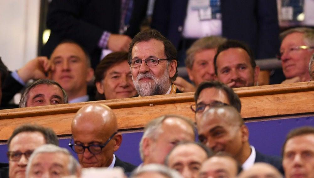 Mariano Rajoy, en el palco viendo la final de la Champions entre Real Madrid y Juventus