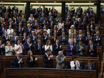 Aplauso a Rajoy antes de que se votara la moción de censura