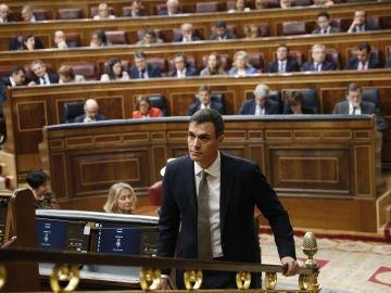 Pedro Sánchez en la moción de censura