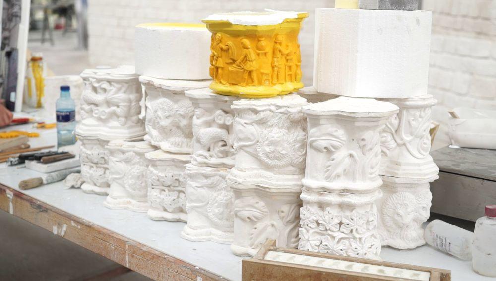 Así se construyó la réplica de la Basílica de Santa Mª del Mar que invadió Cáceres