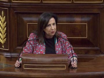 """Margarita Robles: """"España no se merece un presidente del Gobierno que no esté hoy aquí cumpliendo con el Parlamento"""""""