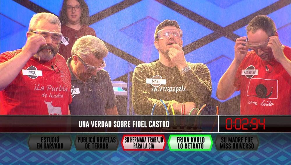 """""""Una verdad sobre Fidel Castro"""" que ha eliminado a Erundino, del equipo de 'Los Lobos'"""