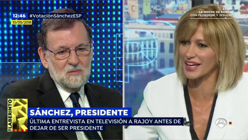 """En su última entrevista en 'Espejo Público', la última en televisión, Rajoy se mostraba abierto a otra legislatura: """"Me gusta trabajar por mi país"""""""