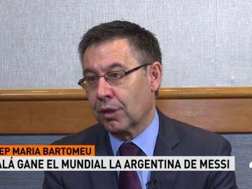 """<p>Bartomeu: """"Espero que Lionel Messi pueda ganar este Mundial""""</p>"""