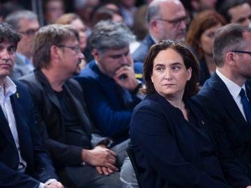 Ada Colau durante la toma de posesión de los consellers