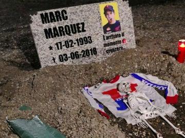 Tumba para Marc Márquez en Mugello