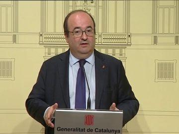 """Iceta reafirma ante Torra su """"voluntad de diálogo"""" para desbloquear la relación entre la Generalitat y el Gobierno central"""