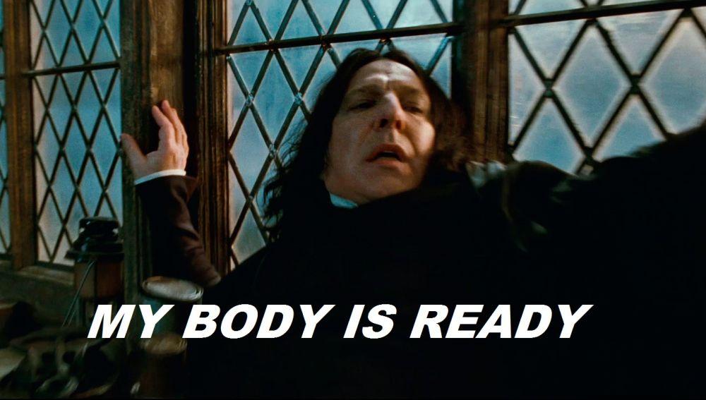Snape está flipando también