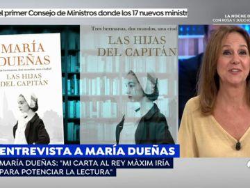 """María Dueñas: """"A Màxim Huerta como ministro le pediría que haga planes de fomento para la lectura"""""""