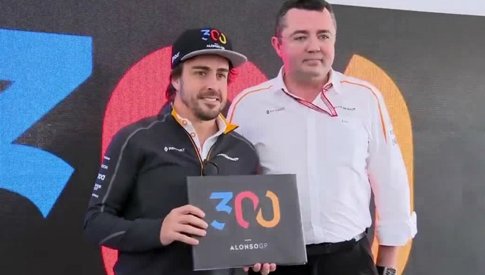 Fernando Alonso, con Boullier