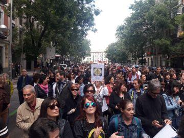 Manifestación de interinos temporales en Madrid