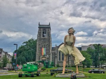 Escultura de Marilyn Monroe