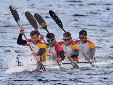 El equipo español de piragüismo