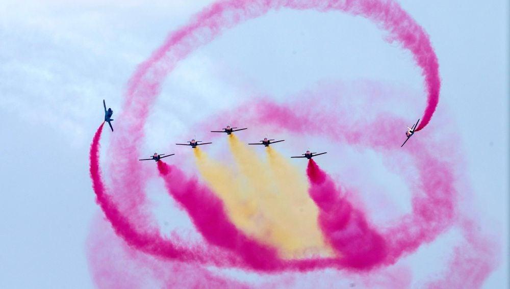 "La patrulla acrobática del Ejercito del Aire, ""La Patrulla Águila"""