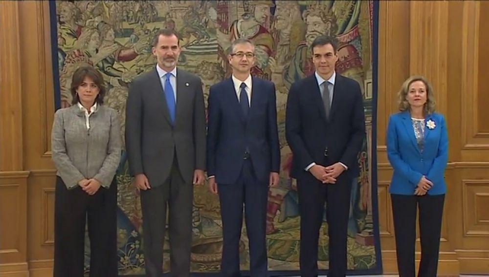 Hernández de Cos promete ante el Rey como gobernador del Banco de España