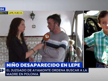 Padre del niño secuestrado en Lepe.