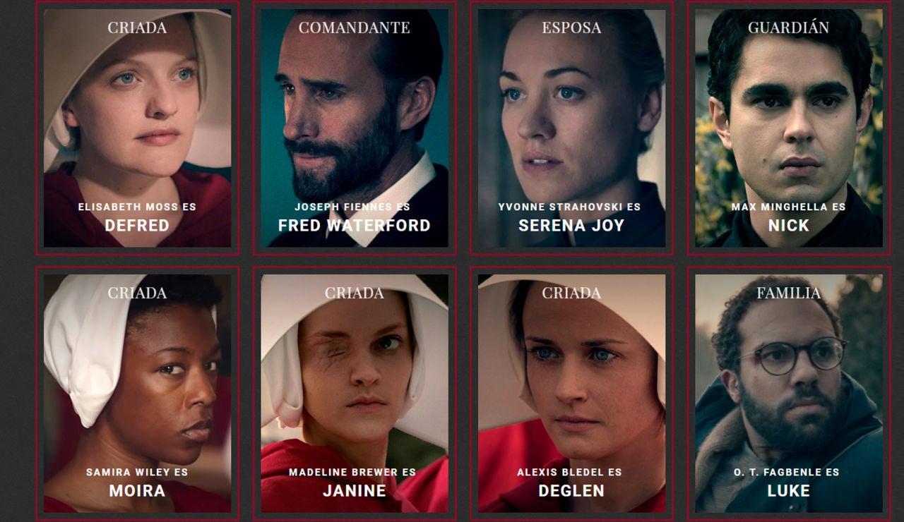 Personajes de 'El cuento de la criada'